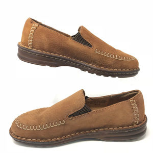 BORN Brown Suede Mules Slip-On Comfort Shoe